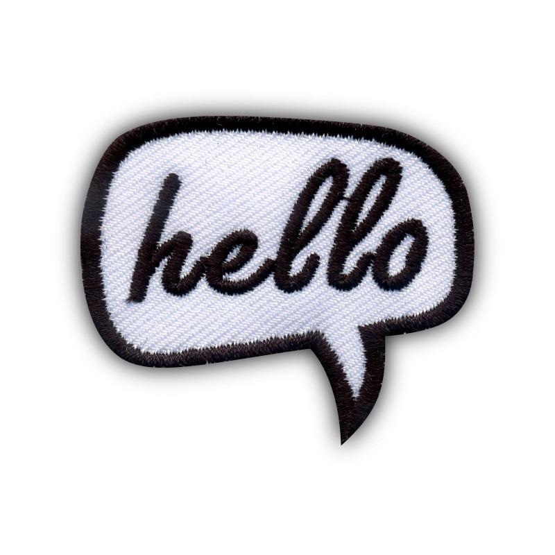 Speech Bubble - hello