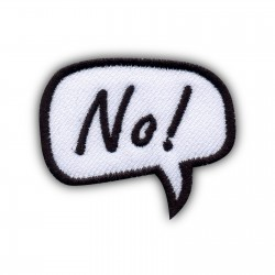 Speech Bubble - No!