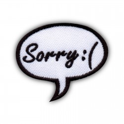 Speech Bubble - Sorry:(
