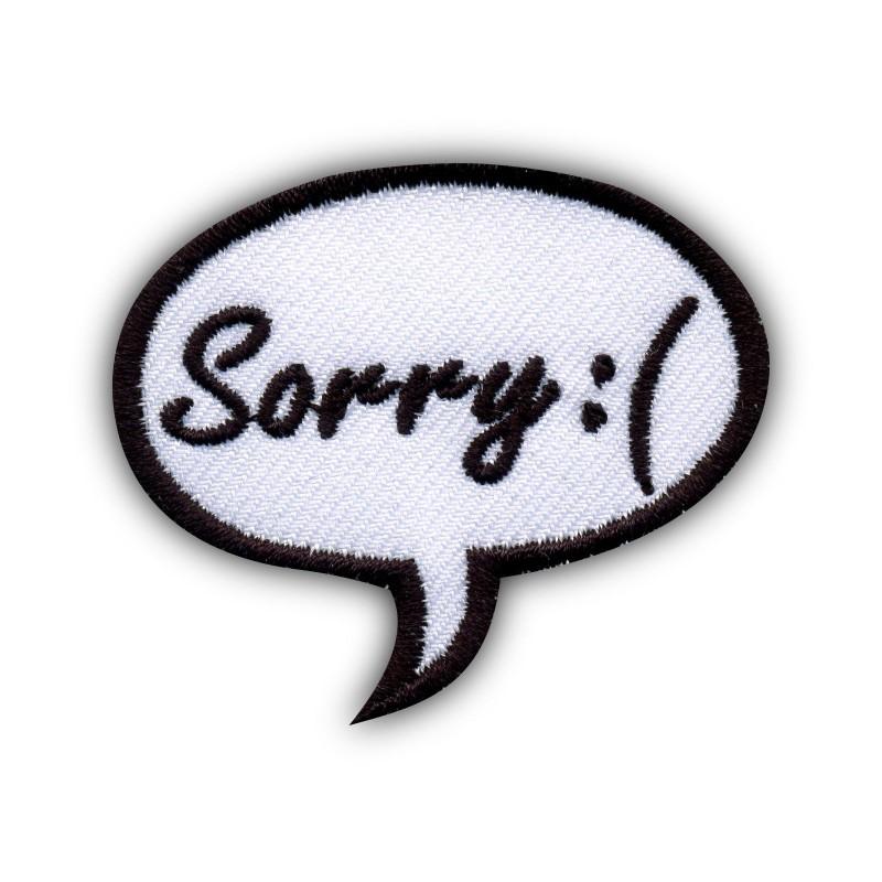 Speech Bubble - Sorry:(