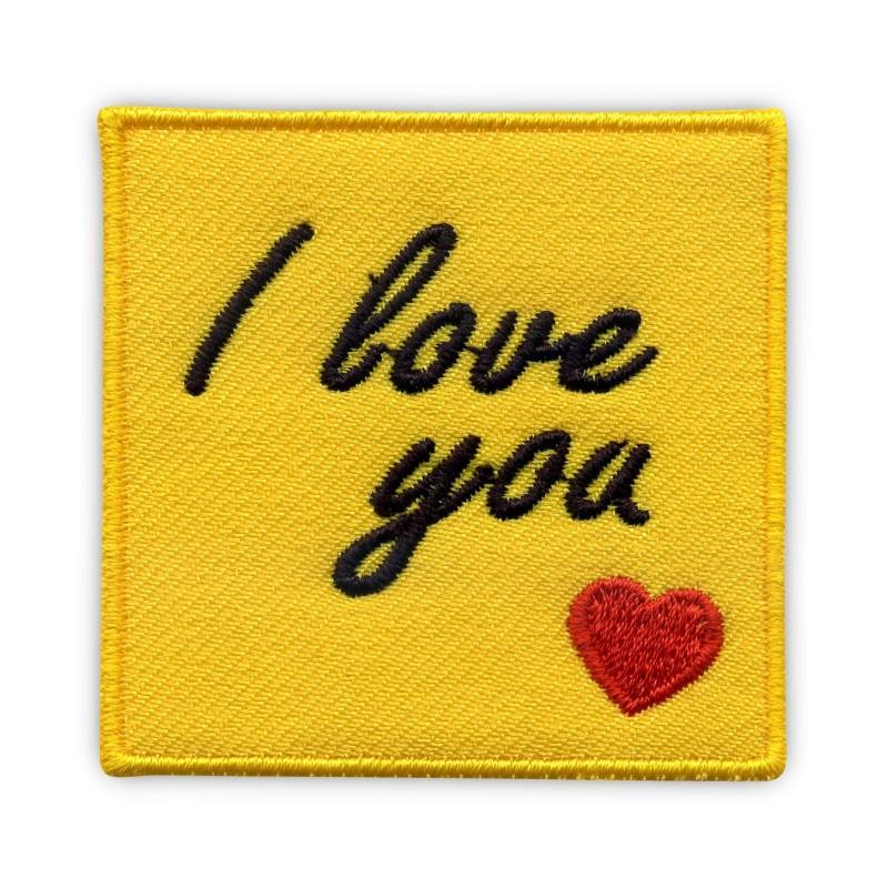 I love you - yellow card - big