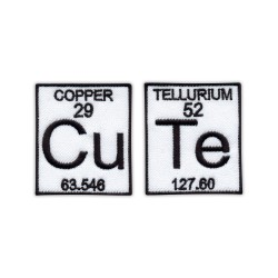 Cu (Copper) Te (Tellurium) - a set of patches - CuTe