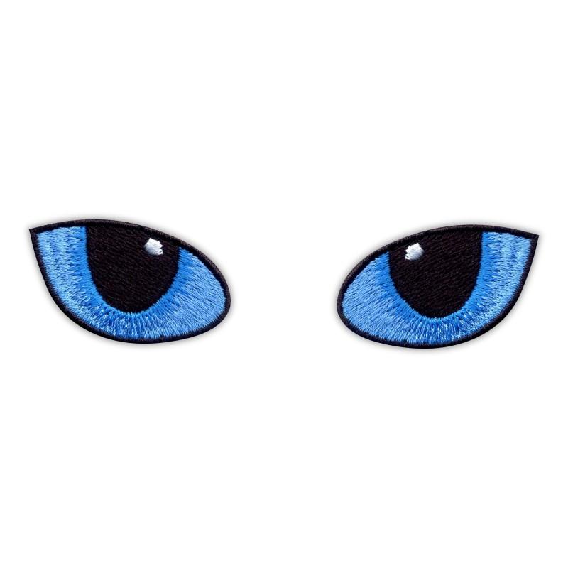 Blue Cat Eyes at Night
