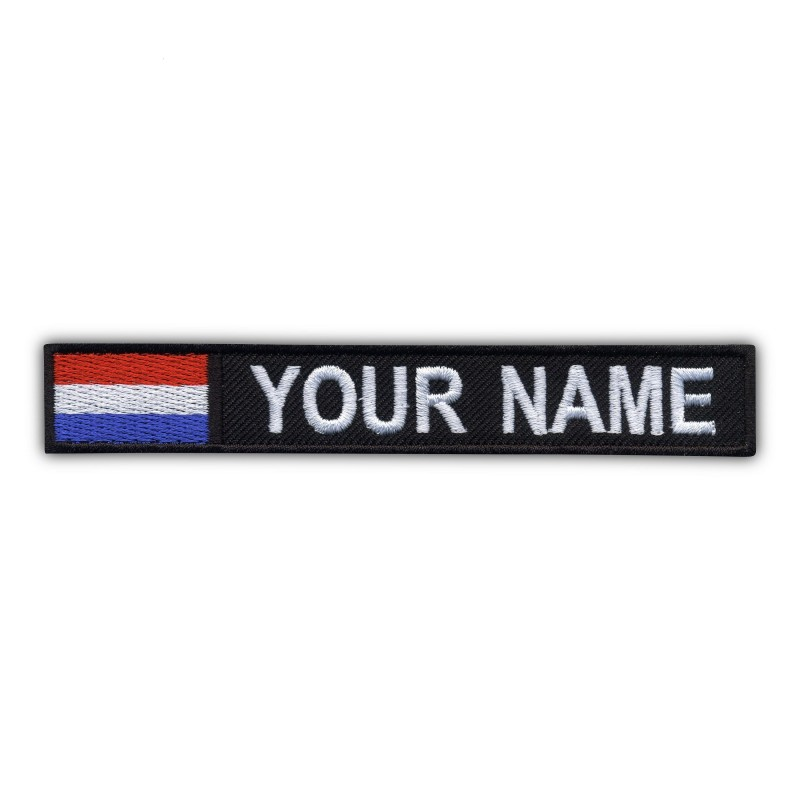 Name Patch with flag of the Netherlands