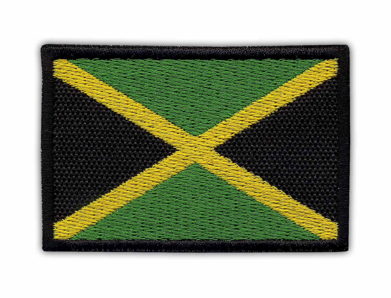 Flag of Jamaica Embroidered PATCH//BADGE