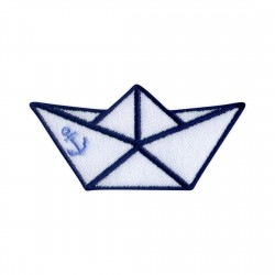 Origami ship with anchor