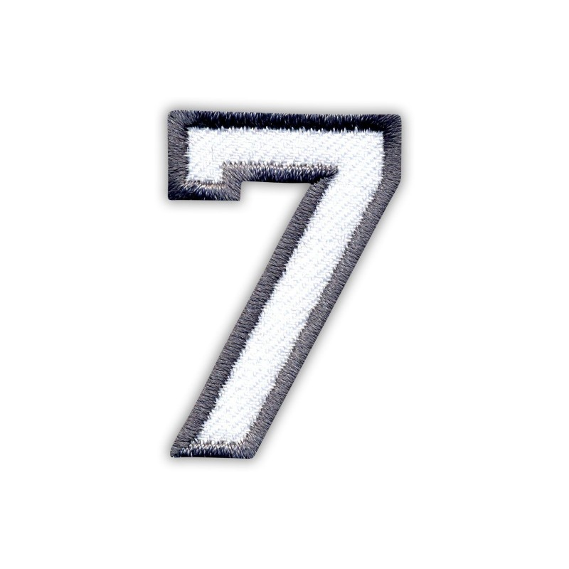 The digit 7 - white