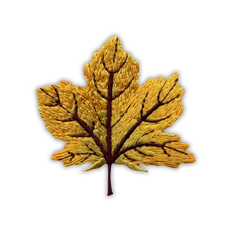 Autumn golden maple leaf - small
