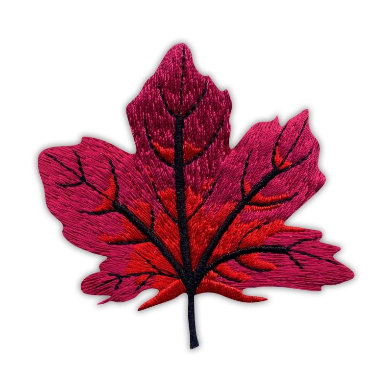 Autumn red maple leaf - big
