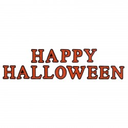 HAPPY HALLOWEEN - inscription