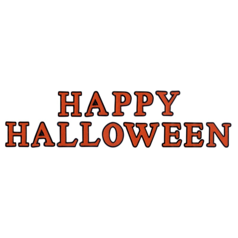 HAPPY HALLOWEEN - inscription from letters