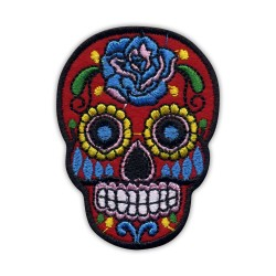 Mexican skull Calavera red