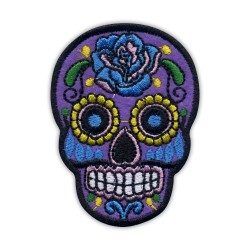 Mexican Calavera skull purple