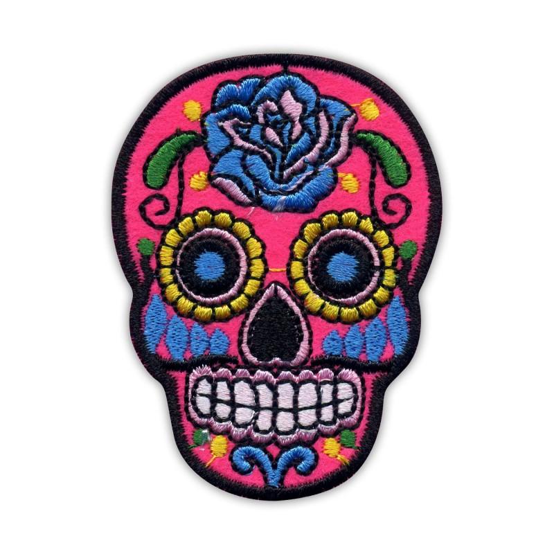 Mexican skull Calavera light pink