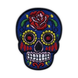 Mexican skull Calavera blue