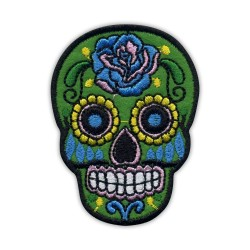 Mexican skull Calavera gray