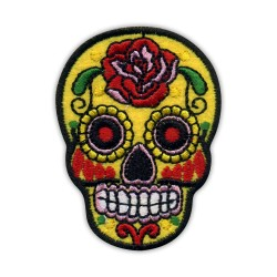 Mexican skull Calavera yellow
