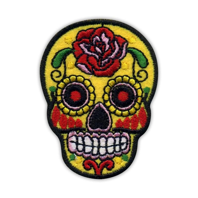 Mexican skull Calavera yellow