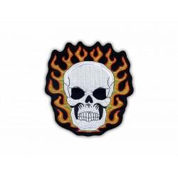Skull in flame