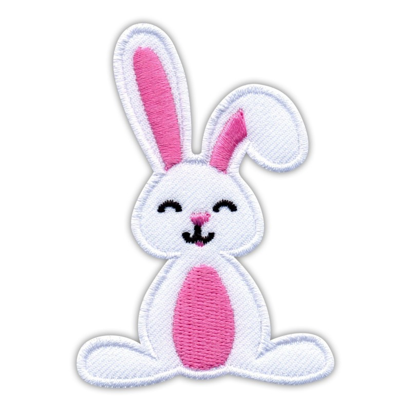 White BUNNY with pink tummy