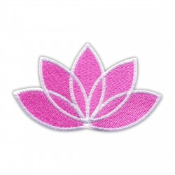 LOTUS flower pink - white edge