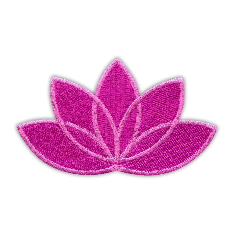 LOTUS flower dark pink - pink edge