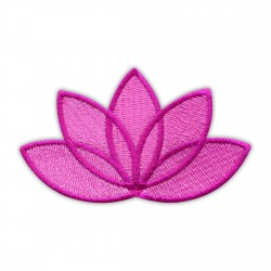 LOTUS flower pink - dark pink edge