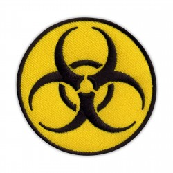 Biohazard - biological threat - round yellow