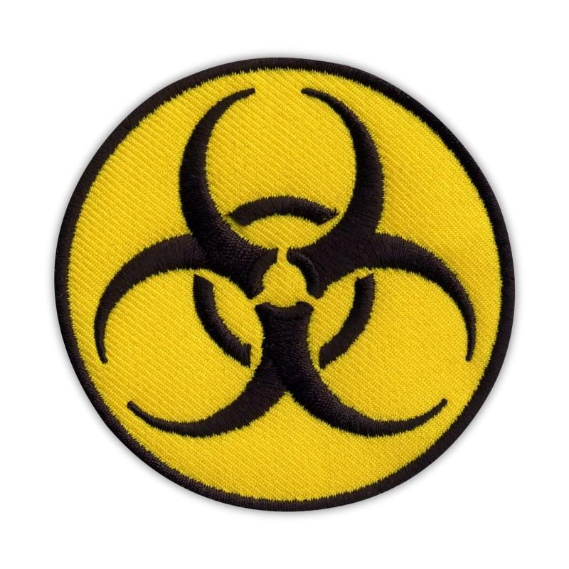 Biohazard - biological threat - round yellow