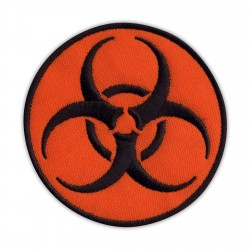 Biohazard - biological threat - round orange
