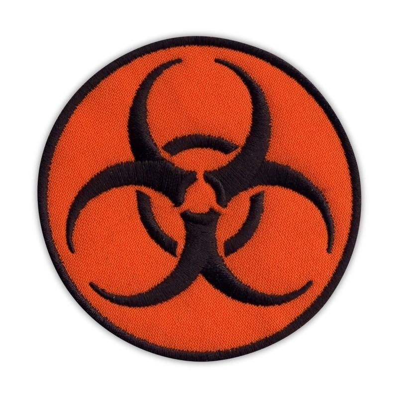 Biohazard - biological threat - round orange