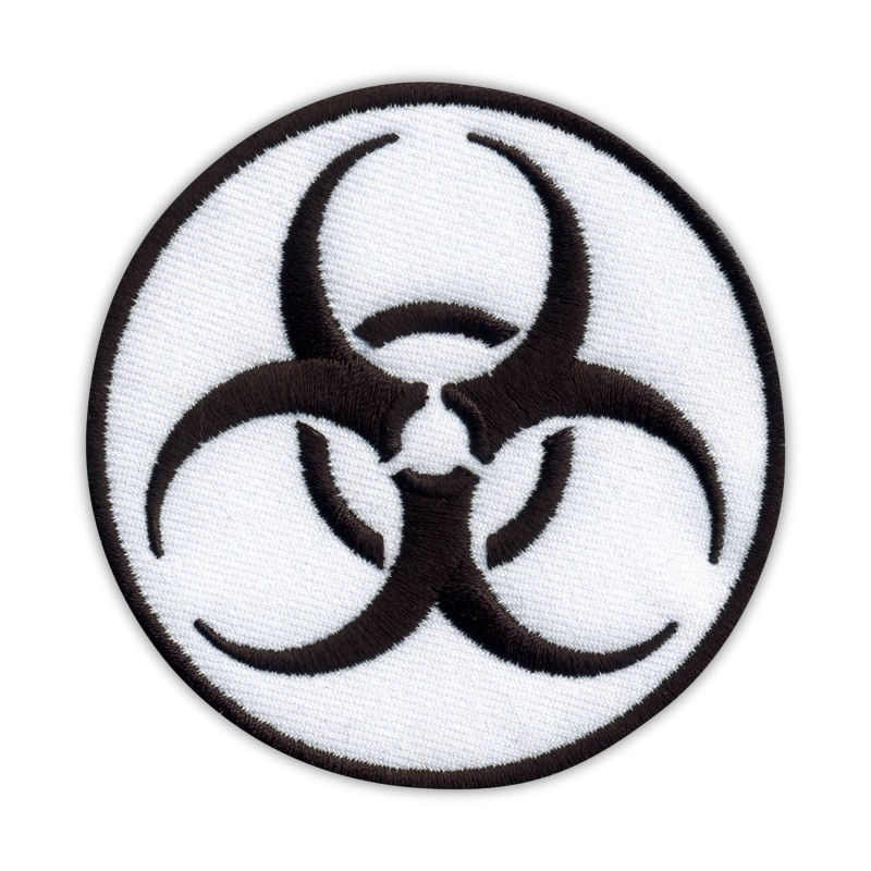 Biohazard - biological threat - round white