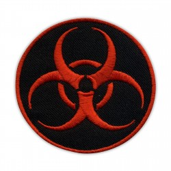 Biohazard - biological threat - round black