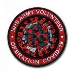 NHS ARMY VOLUNTEER Operation COVID - red