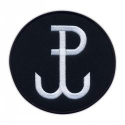 Fighting Poland - Anchor (black - round)/Polska Walczaca - Kotwica