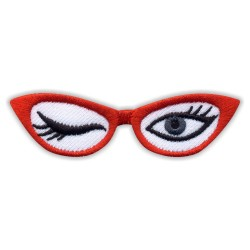 Red GLASSES with winking EYES