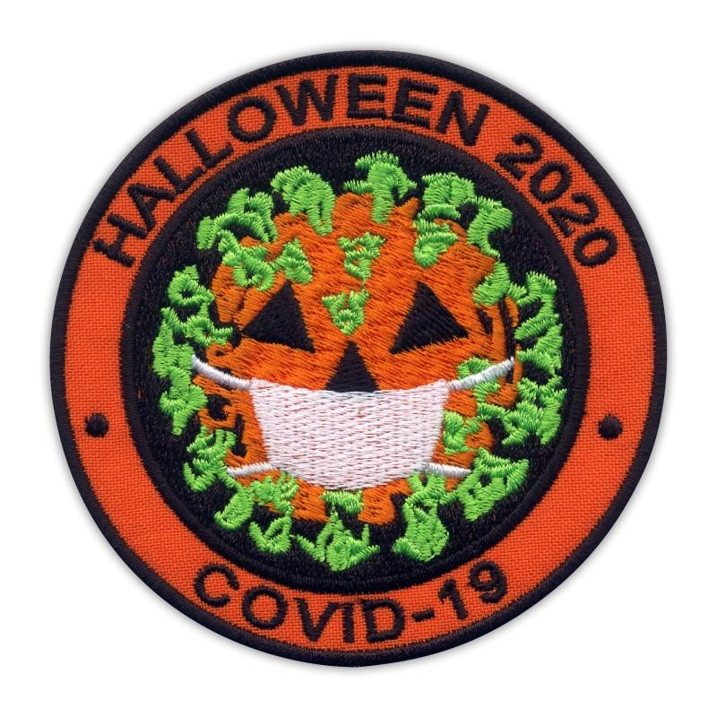 HALLOWEEN 2020 - virus as pumpkin with face mask