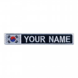 Name Patch with flag of South Korea