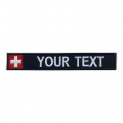 Name Patch with flag of Switzerland