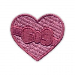 HEART with a ribbon and bow - dirty pink