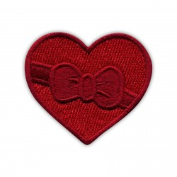 HEART with a ribbon and bow - dark red