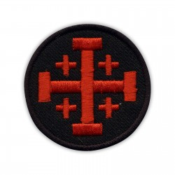 Jerusalem cross - black and red