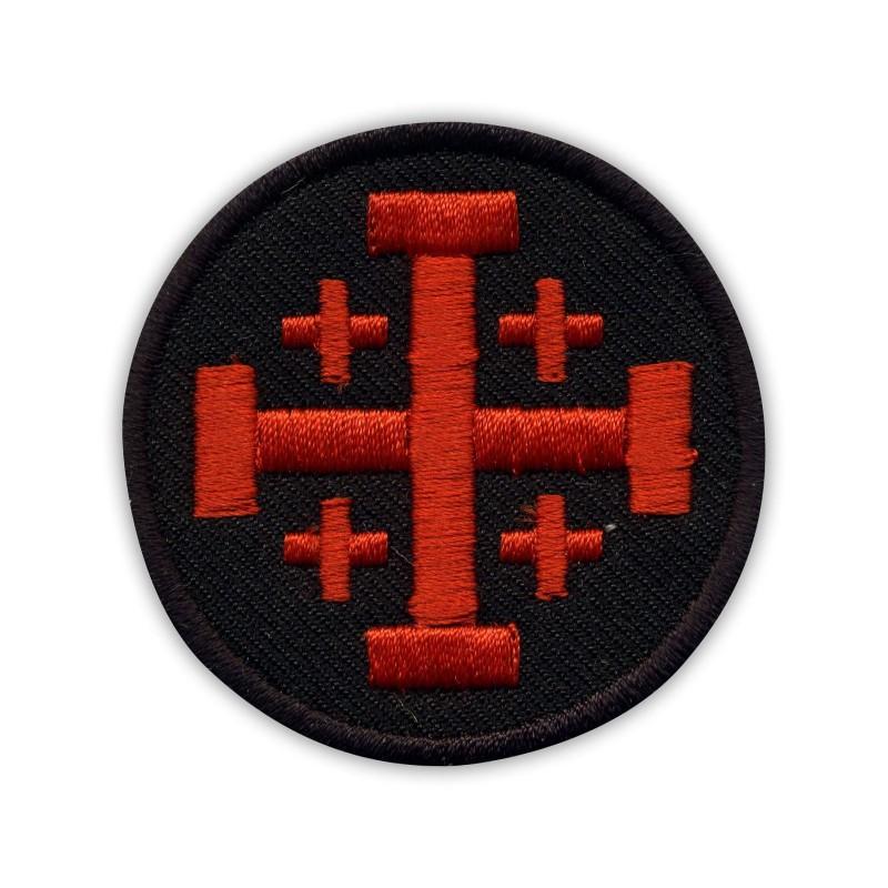 Jerusalem cross - black and red