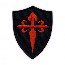 Red Cross of Saint James on the black shield