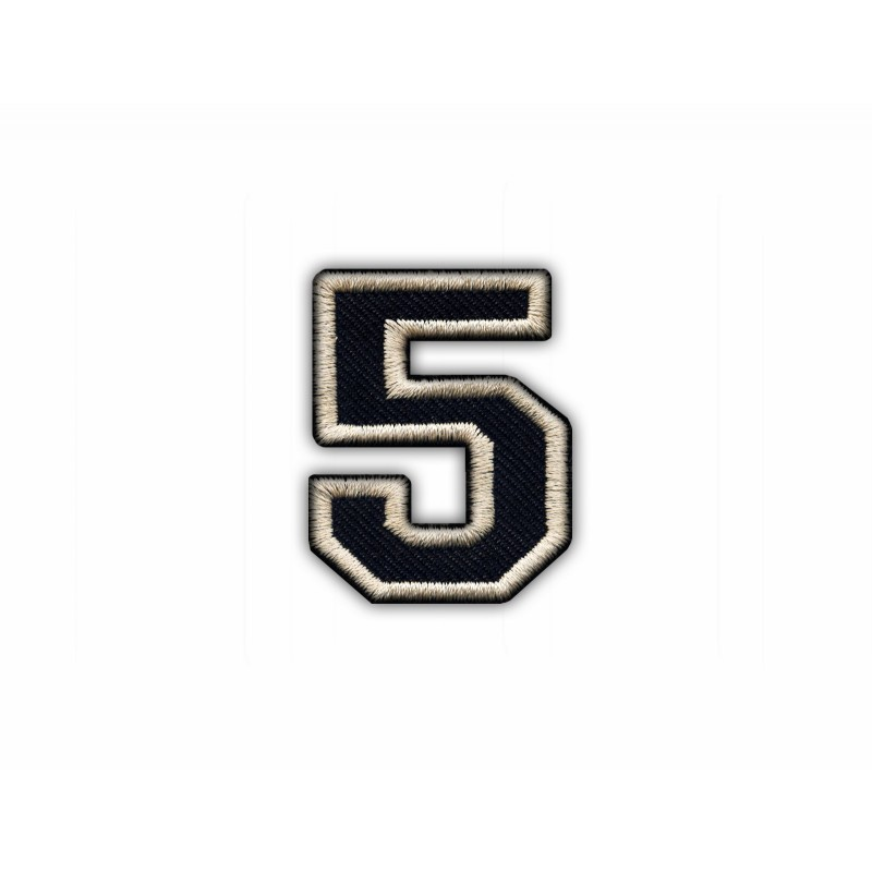 The digit 5 - black