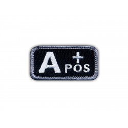 "Blood type A ""pos"" black/white"