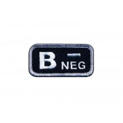 "Blood type B ""neg"" black/white"