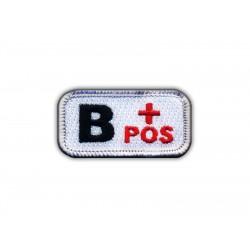 """Blood type B """"pos"""" white/red"""
