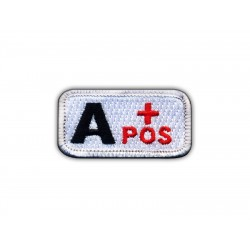 "Blood type A ""pos"" white/red"