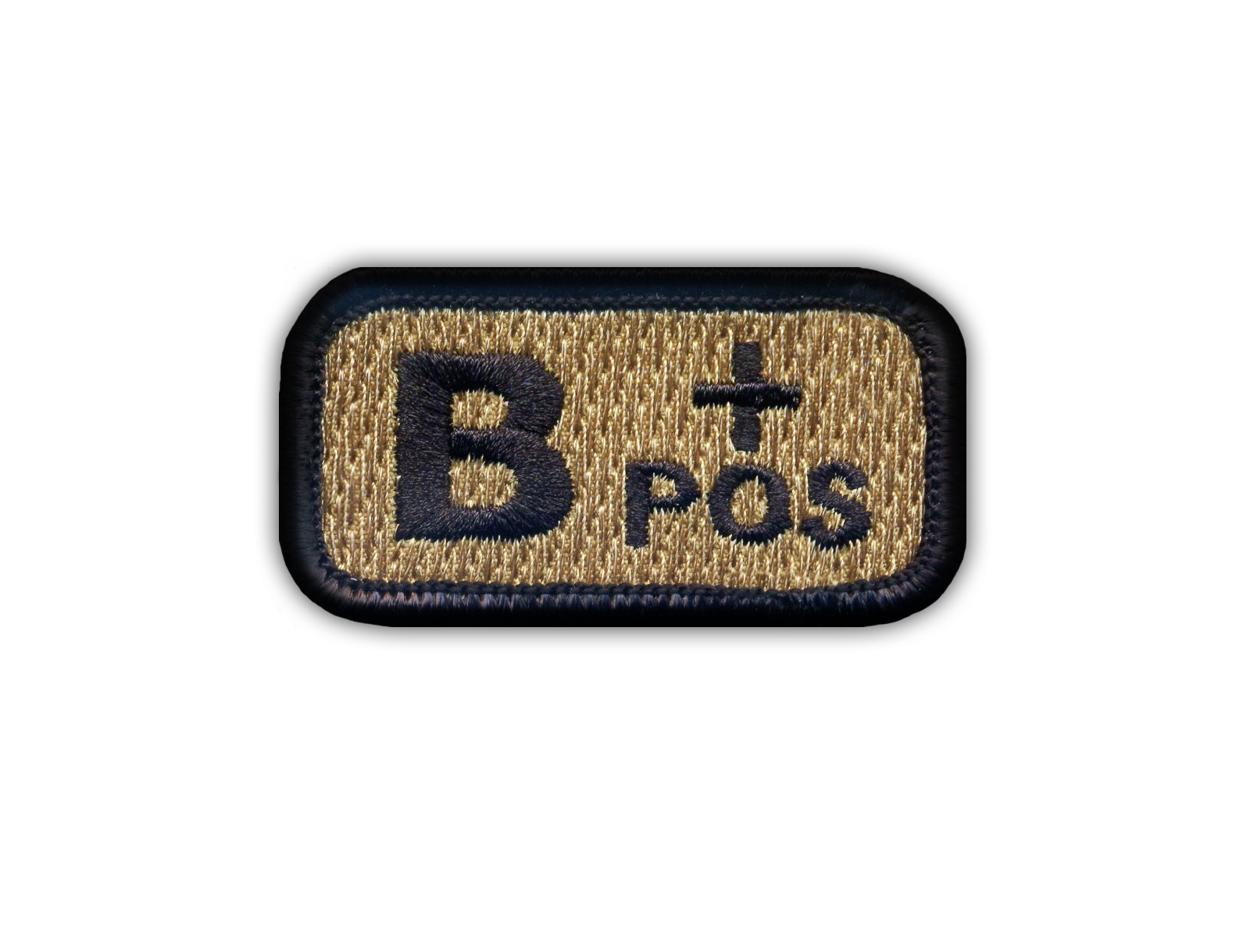"""Blood type 0 /""""pos/"""" coyote-tan Embroidered PATCH//BADGE"""